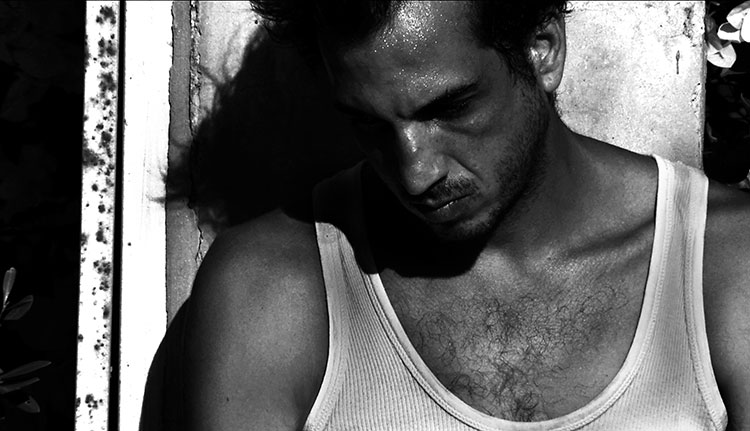 David Fire in Menkes's latest film DISSOLUTION (Israel/88 minutes/B&W/2010)